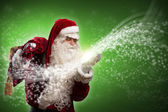 Santa Claus and the magic — Stock Photo