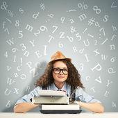 Woman writer — Stock Photo