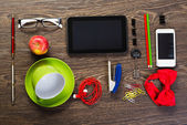 Items laid on the table, still life — Stock Photo