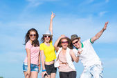 Group of young people having fun — Stock Photo