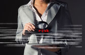 Business woman found risks in information security — Foto Stock