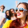 Stylish young womin sunglasses — Stock Photo #40206121