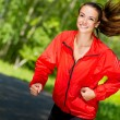 Stock Photo: Healthy young female athlete running