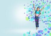 Girl jumping — Стоковое фото