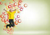 Meisje springen — Stockfoto