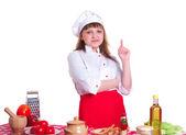 Portrait of female chef — Stock Photo