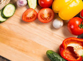 Vegetables on the kitchen board — Stock Photo