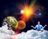 Affärsman mediterar — Stockfoto