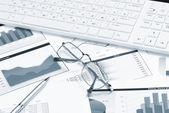Workplace modern businessman — Stock Photo