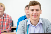 Student in the classroom — Stock Photo
