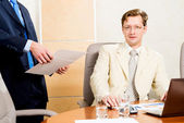 Business people talking — Stock Photo