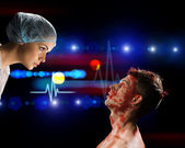 負傷者および医者 — ストック写真