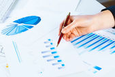 Financial growth charts — Stock Photo