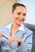 Retrato de una exitosa mujer de negocios — Foto de Stock