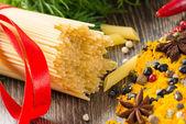 Włoskie spaghetti i warzywa — Zdjęcie stockowe
