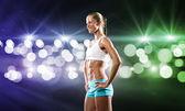 девочка фитнеса — Стоковое фото
