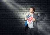 Businessman target — Stock Photo