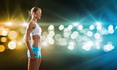 Fitness girl — Stok fotoğraf