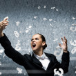 Businesswoman screaming in mobile phone — Stock Photo #49609399