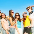 Group of young people hugging — Stock Photo