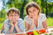 Family at park — Stock Photo