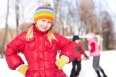 Girl in a winter park — Stock Photo