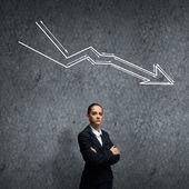Fehler in der wirtschaft — Stockfoto