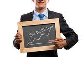 Empresário com frame — Foto Stock