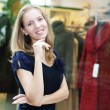 Beautiful woman in department store — Stock Photo #7531546