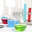 Laboratory items - test tubes and flasks — Stock Photo #7641090