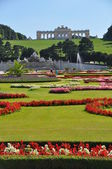 Schönbrunn Palace, Gardens and Gloriette, Vienna — Stock Photo