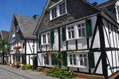 在德国半砖木结构 fachwerkhaus — 图库照片