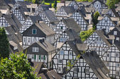 Half-timbered houses in german village of Freudenberg — Stock Photo