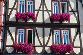 Half-timbered fachwerkhaus in germany — Stock Photo
