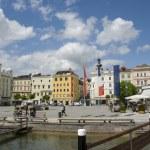 Main square of Gmunden, Upper Austria — Stock Photo