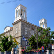 Greek church on samos island — Stock Photo