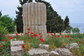 Ancient greek building on samos island — Stock Photo