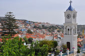 City on greek island samos — Foto Stock