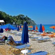 Retro beach on greek island samos — Stock Photo