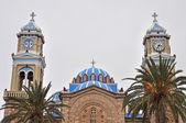 Greek church on samos island — Stock Photo