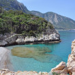 Beautiful bay on greek island samos — Stock Photo