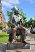 Statue of H.C. Andersen in Copenhagen, Denmark — Stock Photo