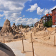 sand sculptures — Stock Photo