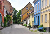 Old colorful houses in Malmö, Sweden — Stock Photo