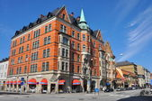 Old red brick building in Malmö, Sweden — Stock Photo