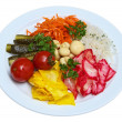 Stock Photo: Pickled tomatoes, cabbage, pickles, pickled mushrooms, carrots Korean