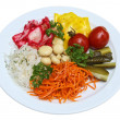 Stock Photo: Pickled vegetables, tomatoes, cabbage, pickles, pickled mushrooms, carrots Korean