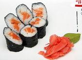 Sushi close up Japanese Cuisine — Stock Photo