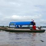 Постер, плакат: Boat in Amazon River
