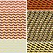 Waves - geometric seamless patterns - Stock Vector